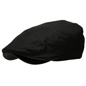 Other - Men's Linen Black Newsboy Hat